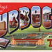 Greetings from Lubbock, Texas, Home of Texas Tech - Large Letter Postcard