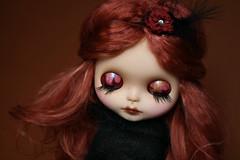 Gabs liddies (G.Baby Dolls) Tags: eye doll hand painted chips mohair blythe custom susa ebl gbaby reroot blytheblu