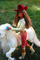 3- Barbie California Girls western (alya12) Tags: horses barbie western californiagirls kayla diorama
