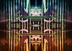 Zaunkunst in Farbe - Art on the fence (radonracer) Tags: abstract fences fantasy digiart abstrakt jägerzaun textur holzzaun radonart zaunbemalung