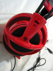 Steel Series V2 Headset in Red (Jennifer.Le) Tags: red 2 computer phone head steel version gear headset wear professional gaming siberia ear series earphone v2 headphone accessory headgear steelseries