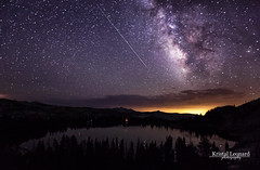 Perseid meteor & Milky Way over May Lake, Yosemite (Kristal Leonard) Tags: lake yosemite yosemitenationalpark meteor maylake milkyway meteorshower perseid perseidmeteor