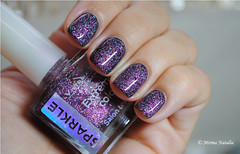 Victoria Shu 192 over black polish (Mirma Natalia) Tags: glitter purple top nail polish holographic holo