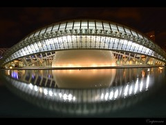 Valencia : City of Arts and Sciences - Hemispheric by night (capreoara) Tags: city las summer valencia night de spain nikon exposure y arts ciudad august espana artes sciences 2012 spania ciencias hemispheric mygearandme mygearandmepremium mygearandmebronze mygearandmesilver mygearandmegold mygearandmeplatinum d3100