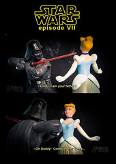 Disney Star Wars : Episode VII -  Cinderella, I am your father (Gilderic Photography) Tags: cinema illustration canon comics toys eos photo starwars funny raw mashup humor creative lucasfilm humour disney montage page parody cinderella darthvader figurine bd parodie lightroom crossover cendrillon 500d darkvador gilderic starwarsvii