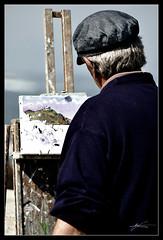 Lienzo  (Explored) (Christian_Rodrguez) Tags: life sea portrait art painting mar spain nikon europe arte retrato christian espana gonzalez donosti sansebastian obra euskadi pintor paisvasco rodriguez pintura lienzo d90 framme