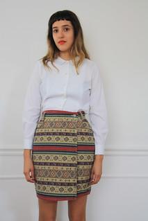 1990s denim pencil skirt