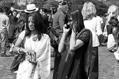 5dMk2K3_6596-BW (bandashing) Tags: ladies girls england bw white london monochrome hat mobile manchester phone head candid straw can western cocacola eastern e1 sari sylhet bangladesh mela multiculturalism nicklace bandashing