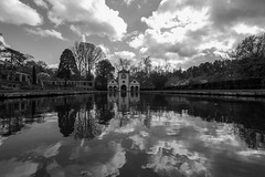 Bodnant reflection (A Crowe Photography) Tags: blackandwhite bw wales garden blackwhite nationaltrust bodnant bodnantgarden welshlandscape welshflickrcymru flickrbw bwflickr welshphotographer welshphotography northwalesdailypost dailypostnorthwales