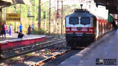 rajdhani premium at 110 (akshaypatil™ ® photography) Tags: birthday station indian railway special premium rajdhani wap5 vangaon