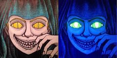 Lemony Yellows (dougrizio) Tags: art scary creepy blacklight glowinthedark marker sharpie highlighter glitchcraft