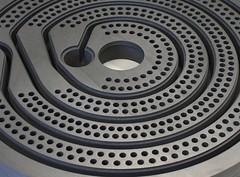 Annular groove section - Ringnutscheibe (GAB Neumann) Tags: plant spiral chemistry heater heat production groove cooler chemicals section corrosion graphite gab neumann drilling pharma pharmaceutical corrosive condenser annular resistant exchanger impervious impregnated gabneumann ringenut