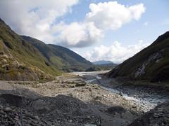 318 - Vue de la vallée depuis le Franz Josef Glacier