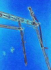 In the sky (Lo8i) Tags: sky crane iphone slidersunday tangledfx
