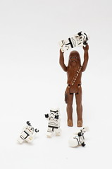 Attack of the Forty Foot Wookie (Lee Saboro) Tags: starwars lego stormtroopers stormtrooper wookie chewbacca