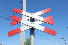Double saltire (DennisM2) Tags: railwaycrossing spoorwegovergang andreaskruis doublesaltire bordj13
