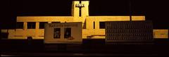 Decca Building, A4, Brentford, London, TW8 (tonywright617) Tags: urban london 120 film architecture night advertising panoramic analogue e6 fujica brentford medformat g617 deccabldg