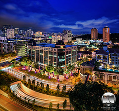 Havelock Central Mall (kenneth chin) Tags: city blue yahoo google twilight nikon singapore asia nikkor verticalpanorama digitalblending centralmall d810 1424f28g