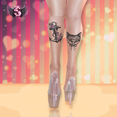 .::Supernatural::. Dalia Tattoo (Sombria Baily) Tags: fashion avatar omega blogger sl secondlife belleza hunt banned supernatural tmp woh brazilia maitreya slink applier slphoto meshbody fashionsl tattoosl omegasystem themeshproject woh1