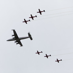 Connie & Roulettes (Mikey Down Under) Tags: plane flying wings display aircraft over may saturday australia historic airshow nsw lockheed constellation wollongong illawarra roulettes 2016 wingsoverillawarra lbionpark