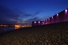 Hot Walls (Sarah Marston) Tags: sea beach water night clouds lights harbour sony may portsmouth alpha 2016 portsmouthharbour hotwalls a65