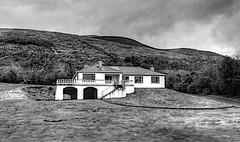 HOUSE on the HILL (conespider) Tags: ireland blackandwhite house window landscape outside blackwhite nikon doors outdoor hill hills southernireland 2016