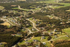 Outer Cove (Karen_Chappell) Tags: travel trees green rural newfoundland landscape town scenery scenic aerial roads nfld atlanticcanada outercove avalonpeninsula