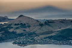 Mountain shadow (Ian@NZFlickr) Tags: sunset shadow mountain bay cone harbour nz otago dunedin peninsula braod