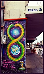 All is One, All 1 connection -- High Street, Northcote - Thornbury (Melbourne Streets Avant-garde) Tags: street our light art love one graffiti 1 is all body earth melbourne we planet immortal connection eternal northcote