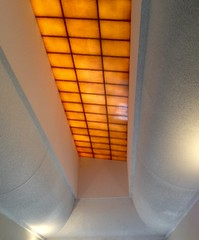 Skylight Orange (Gabriel FW Koch) Tags: light orange white building architecture design squares curves skylight indoor ceiling inside curved iphone