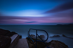 Hawk Cliff Sunset (Minibert93) Tags: longexposure sea sky dublin seascape water clouds landscape killiney hawkcliff