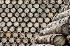 Whiskey Barrels (Ricky Delli Paoli) Tags: wood wallpaper texture scotland europa pattern whiskey journey whisky traveling viaggio alcol scozia barrells sonya7sii