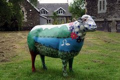 Baarnaby (kailhen) Tags: art public outdoors sheep painted go trail cumbria trust calvert cumbrian herdwick baarnaby