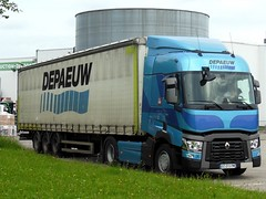 RENAULT T 460 Semi-Remorque Tautliner DEPAEUW (F-59) (xavnco2) Tags: new blue france truck t renault bleu lorry camion trucks range picardie lkw semitrailer somme autocarro longueau tautliner semiremorque curtainside t460