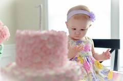 Maddie and her Cake // (dcimageforge Danny Collado PixelWorks Photography) Tags: birthday family portrait usa cake kids 35mm maddie nc kid nikon child candid north northcarolina carolina 18 2012 huntersville 35mm18 d7000 dcimageforge dannycollado