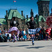 Lassies take to the air in front of Parliament on Easter Sunday. Photo: Judy Andrus Toporcer, Pierrepont NY.