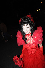 Salem MA - Halloween 2011 (IronHide) Tags: holiday halloween girl dark ma costume cosplay witch trickortreat massachusetts ghost haunted wife salem witches brunette mass beetlejuice scare haunt ghoul october31 allhallowseve 2011 allsaintseve lydiadeetz ghostwiththemost