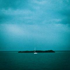 Awash (Lil Sleepy) Tags: ocean blue water clouds sailboat sunrise keys island boat waves florida grain boating jc keywest noise noisy us1 southflorida fennell overseashighway nikond40x jcfennell