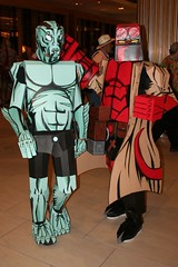 Hellboy and Abe (Nikejerk3) Tags: cardboard abe hellboy dragoncon boxsuit