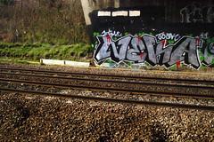 Neka 1T (Alex Ellison) Tags: urban graffiti chrome onetime trackside northlondon neka 1t nekah neks