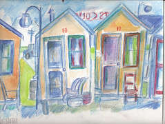 COZY COURT MOTOR HOTEL 1947 (roberthuffstutter) Tags: style expressionism impressionism huffstutter watercolorsbyhuffstutter artmarketusa