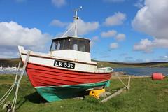 Very cute little boat! (ladyjaypeg) Tags: blue sky clouds boat shetland
