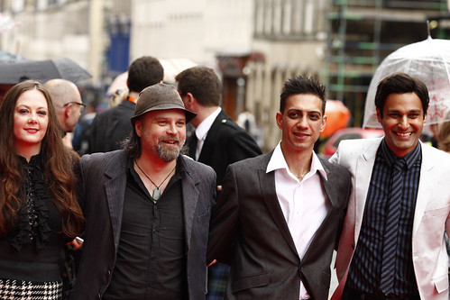 Guests on the red carpet for the European premiere of Brave at the Festival Theatre