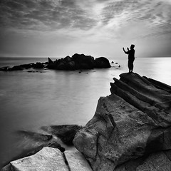 hope.... (sirman88) Tags: light panorama seascape motion blackwhite interestingness dusk geometry glorious malaysia slowshutter pointing f11 revisited traveldestinations kemaman nd8 rockyseascape vertorama d7000 sirman leegnd9 photographyoutdoors azmanrahman sirman88