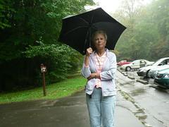 In the Rain (Country Squire) Tags: park mountains rain umbrella texas tn tx national sue smoky johnna mingusmill