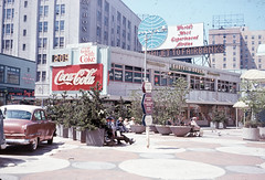 Westlake pedestrian mall, 1965 (Seattle Municipal Archives) Tags: seattle signs advertising plazas 1960s downtownseattle westlakecenter westlakemall seattlemunicipalarchives