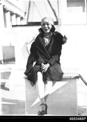 Portrait of Kono San at a Movietone event on board SS SIERRA