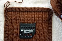 Amostra Lauriel - agulha 3.5mm - mida (Valeria Ferreira Garcia) Tags: swatch sweater cardigan tric amostra suter ysolda lauriel cardig