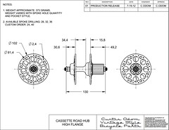 Curtis Odom Technical Drawing (Curtis Odom) Tags: bicycle vintage high odom flange curtis cad drafting hubs