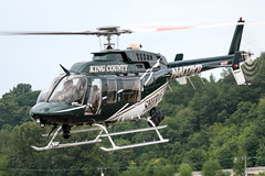 N407KS - King County Sheriff's Office - Bell 407 (bcavpics) Tags: seattle county usa washington office chopper king bell aircraft aviation helicopter museumofflight 407 heli boeingfield sheriffs kbfi americanheroesairshow n407ks